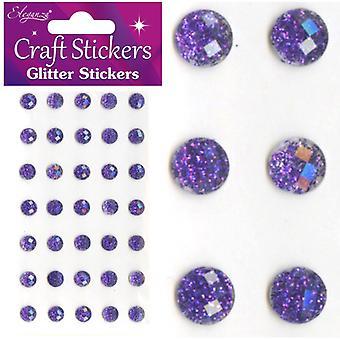 Oaktree UK Ltd - Glitter Gems - 8mm - Purple