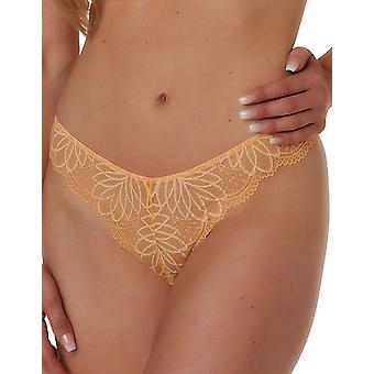 After Eden D-Cup & Up Febe 20.35.7613-035 Women's Bright Peach Lace Thong