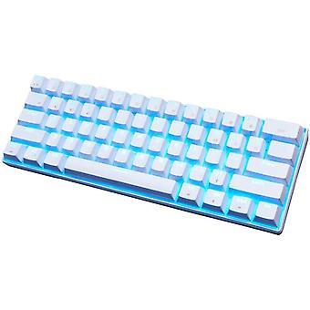 Mekanisk spilltastatur RK61 Kablet / Trådløs Bluetooth 61 Taster LED Bakgrunnsbelyst Spillbestandig Design Egnet for arbeid og daglig bruk Kompatibel med IO (hvit)