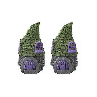 Secret Fairy Garden Range para crear un encantador pueblo en el jardín, pack de 2