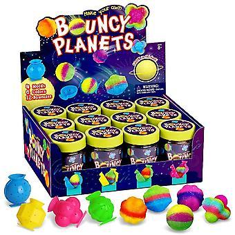 Wokex Bouncing Ball Set Bouncy Ball Spiel für Kinder Flummi Gummiball Hpfblle Selber Machen Set