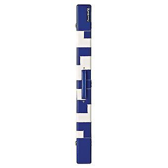 PowerGlide Snooker & Pool Leather Effect 2-częściowy wyściełany posadziany walec - niebieski/biały