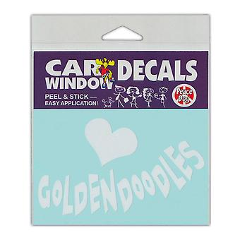 """Decal, Window Decal, Love Goldendoodles, 4.5"""" X 3"""""""