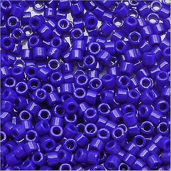 חרוזי זרעי מיוקי עדינה, 15/0 גודל, 4 גרם, DBS726 כחול כהה אטום