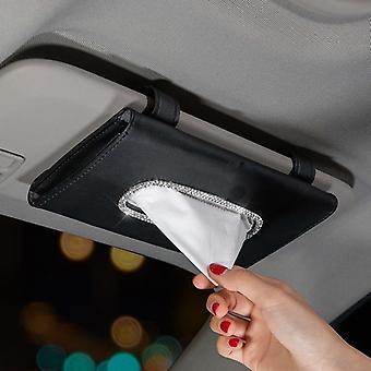 Sun Visor Car Tissue Box, Auto Napkin-tissue Hanging Bag Holder