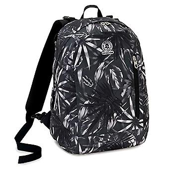 Backpack 2in1 Reversible Invicta Twist Eco-Material, Grey, 26 Lt, Fantasy + Solid Color, School & Leisure