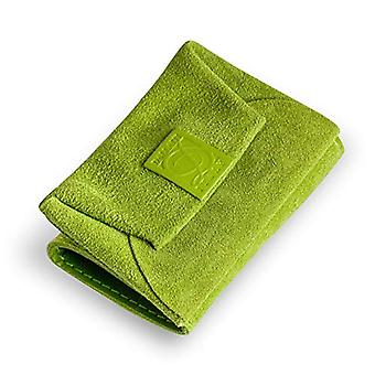 Dallaiti Design Wallet with Pigmented Leather Coin Case, Women's Coin Purse, Green (Acid Green), 7x1x10 cm (W x H x L)