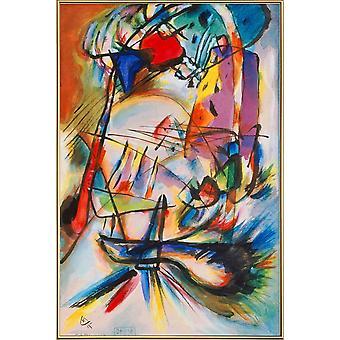 JUNIQE Print - Kandinsky - Koostumus Tarkoitukseton - Wassily Kandinsky Juliste värikäs