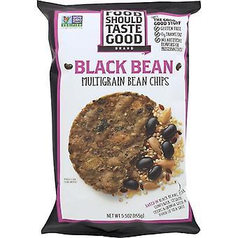 Food Should Taste Good Chip Blk Bean Mltgrn 12Pc, Case of 12 X 5.5 Oz