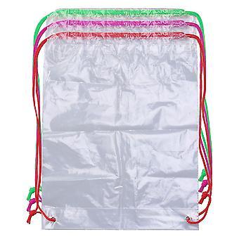 kvalifisert oppbevaringspose gjennomsiktig snor ryggsekk klar streng bag (tau farge tilfeldig)