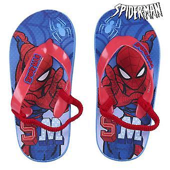 Flip Flops for Children Spiderman Blue