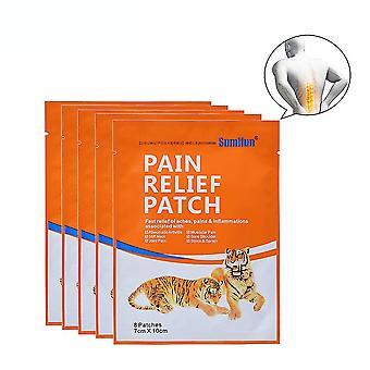 8pcs Joint Anti Pain Aufkleber Taille Hals Knie Schmerz Relief Patch traditionelle Kräuter Hitze Patch Reliving Arthritis Ache