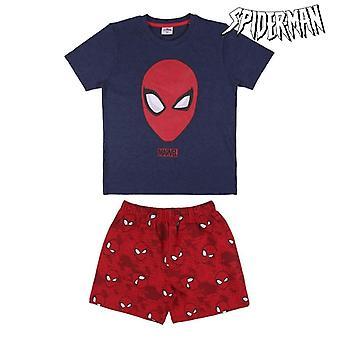 Kinderpyjama Spiderman Rood Blauw