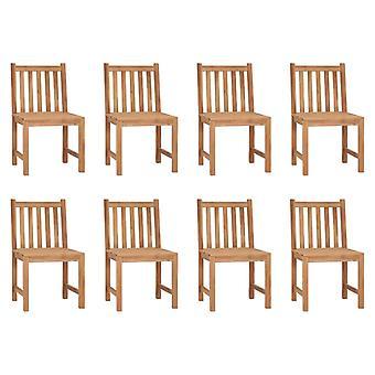 vidaXL Garden Chairs 8 pcs. Solid Wood Teak