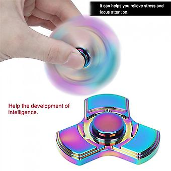Copper Anti-stress Three-blades Rotatable Finger Spinner For Adhd Autism