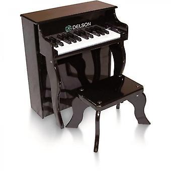Rechtopstaande zwarte piano 25 toetsen
