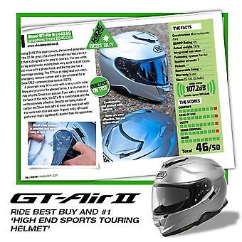 Shoei GT Air 2 Vanlig lätt motorcykelhjälm Silver