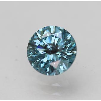 Cert 0,64 Ct Sky Sininen SI2 Pyöreä Brilliant Parannettu Luonnollinen Löysä Timantti 5,51mm