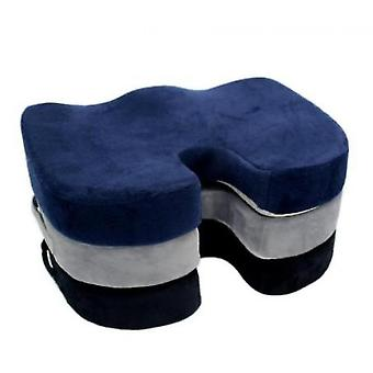Office Driving Beautiful Buttocks Cushion U-shaped Cushion Memory Foam Chair Cushion(Blue)