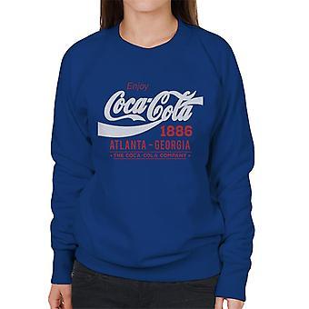 Coca Cola White Classic Logo Kvinders Sweatshirt