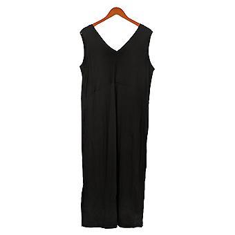 Câlin Duds Petite Jumpsuits Flexwear V-Neck Wide Leg Noir A373507