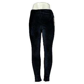 Skinnygirl Leggings Seamless Pull-On Velour Leggings Navy Blue 679008