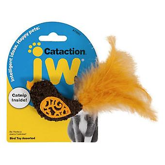 JW Pet Cataction Catnip Bird Cat Toy With Feather Tail  - 1 count