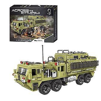 Guerre militaire Jungle Commando Camion lourd Artillerie Char Armée Véhicule Blocs de construction Brique Jouets