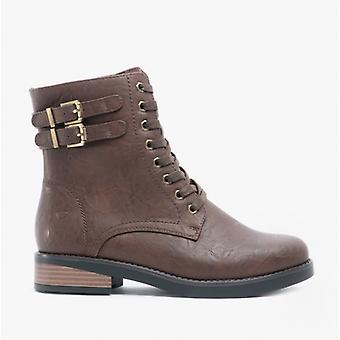 Heavenly Feet Elm Ladies Ankle Boots Chocolate