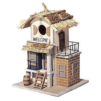 Bird toys bird house bird nest villa handmade wood forest park wild bird house protection|bird cages nests