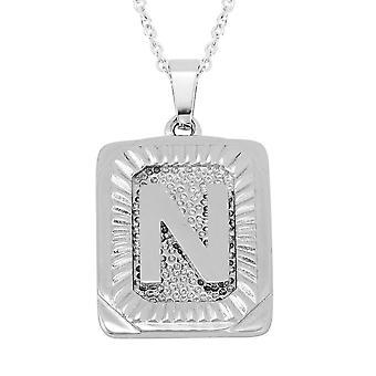 TJC Počáteční abeceda N Náhrdelník pro ženy v nerezové oceli