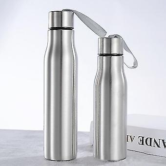 Sportowa butelka na wodę ze stali nierdzewnej z liną uchwytu (750 ml)