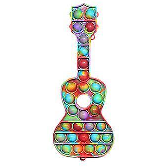 Push Pop It Fidget, Autismus Besondere Bedürfnisse Anti-Stress Spielzeug, (Gitarrenform)