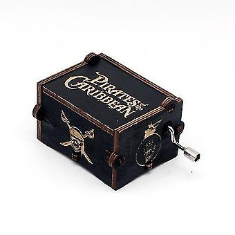 Pirates of the Caribbean Hand Crank Sculpté boîte musicale en bois - Davy Jones