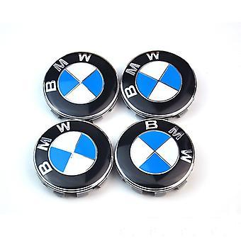 4pcs Bmw Logo 56mm Rad Mitte Nabenabdeckung Felge Emblem Blau Weiß Felgen Badge - Auto Zubehör