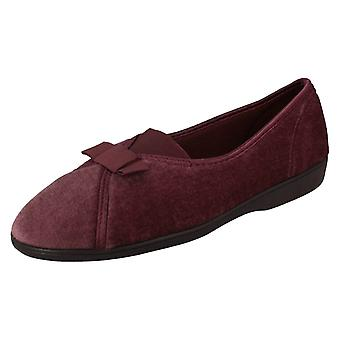 Ladies Spot On Textile Slippers Style 205999