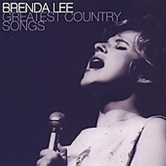 Brenda Lee - importation USA Greatest Country Songs [CD]