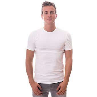 Claesens T-Shirt Round Neck White Stretch TWO PACK ( CL 1021)