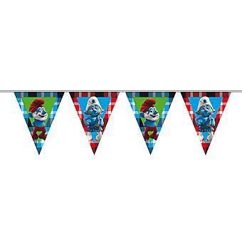 I Puffi pennant Garland festa festa di compleanno bambini