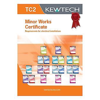 Kewtech Minor Works Certificate Book