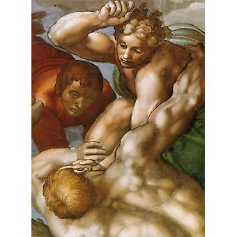Michelangelo - Angels and Men Poster Print Giclee