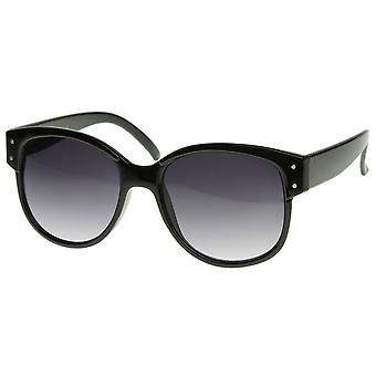 Designer Inspired Large Oversized Retro Style Sunglasses with Metal Rivets