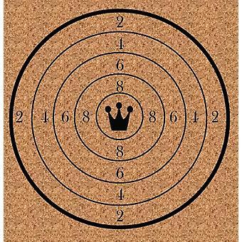 Zielscheibe aus Holz 30 x 30 cm lackiert