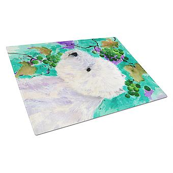 Carolines Treasures  SS1064LCB Westie Glass Cutting Board Large