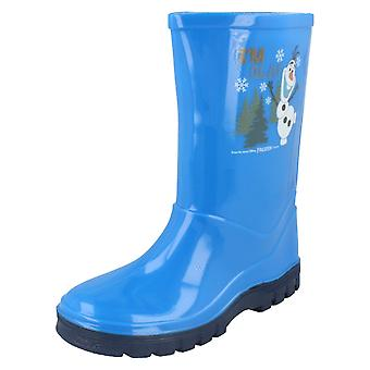 Boys Disney Frozen Welligton Boots I'm Olaf
