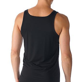 Mey 34200-123 mannen netwerk zwart effen kleur Tank Vest Top