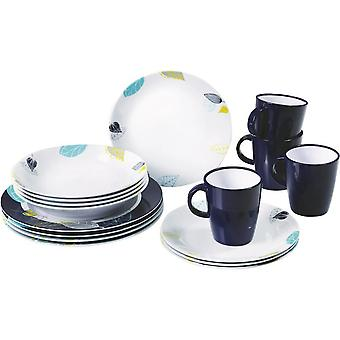 Seasons 16 Piece Plates And Mugs Dining Set