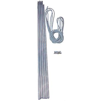 New Vango Alloy Corded 9.5mm Tent Pole Set Silver