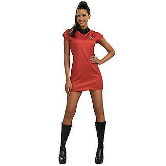 Uhura Deluxe Nyota Star Trek-filmen licensierade röd klänning kvinnor kostym