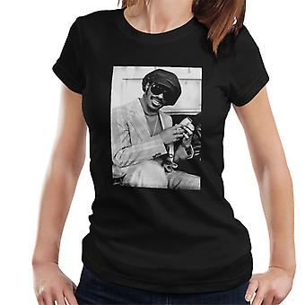 Stevie Wonder London Interview 1974 Damen T-Shirt